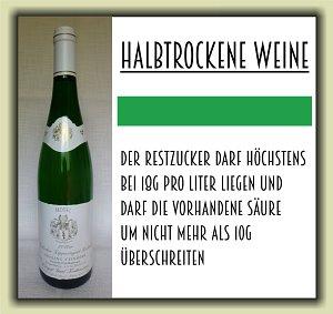 halbtrockene Weißweine
